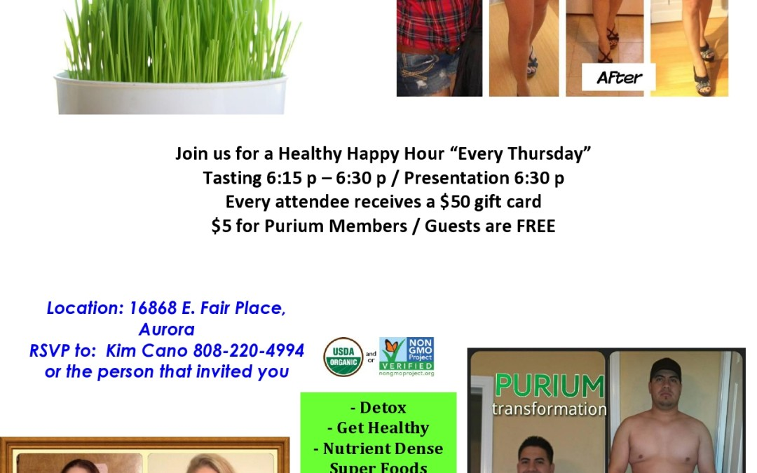 Come to our weekly Healthy Happy Hour!
